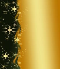 weihnachtlicher Hintergrund in gold und grün