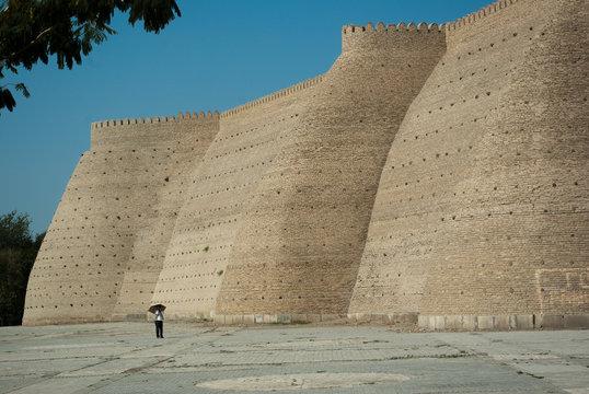 Walls of Ark citadel in Bukhara