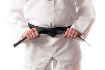 Photo sur Aluminium Combat Martial Arts Black Belt