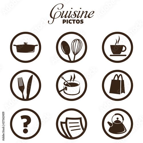 Cuisine pictos fichier vectoriel libre de droits sur la banque d 39 images image - Pictogramme cuisine gratuit ...
