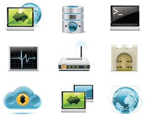 Vector internet and network icons. Part 1