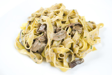 Tagliatelle ai funghi porcini, Tagliatelle with mushrooms