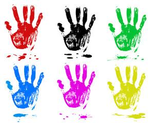Multicoloured fingers