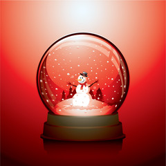Christmas snowglobe with a snowman within