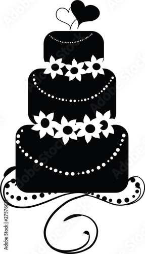 Wedding Cake Black And White Stock Image And Royalty Free Vector