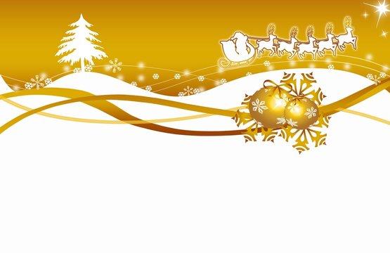 Christmas,xmas, Weichnachten, Stanta Claus, gold