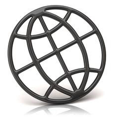 Black globe icon