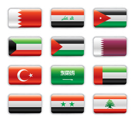 Extra glossy flags - Middle East Asia