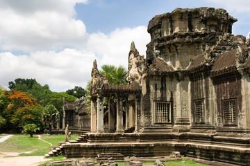 Crumbled Entrance to Angkor Wat Ancient Ruin