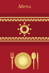 Cover for restaurant