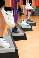 Aerobic step exercise detail