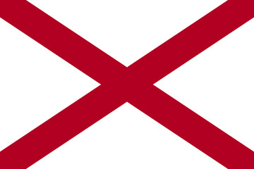 Fototapete - Alabama state flag