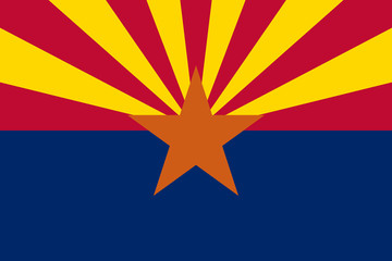 Wall Mural - Arizona State flag