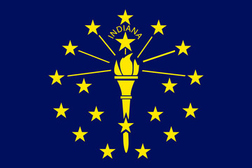 Fototapete - Indiana State flag