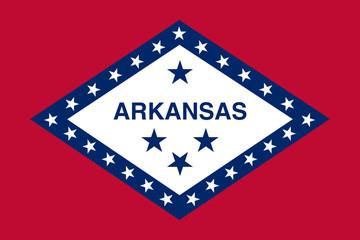 Fototapete - Arkansas state flag