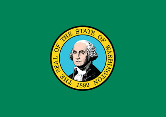 Wall Mural - Washington state flag