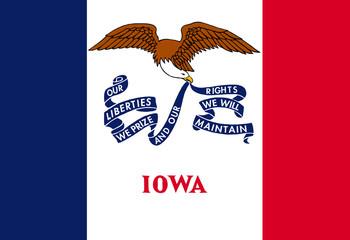 Wall Mural - Iowa state flag