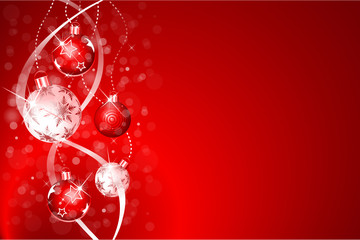 Wall Mural - christmas background red