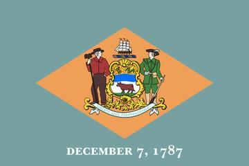 Wall Mural - Delaware state flag