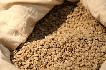 Aluminium Prints Coffee beans sac de café
