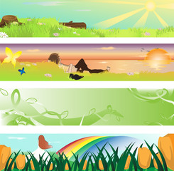 Spring season banner