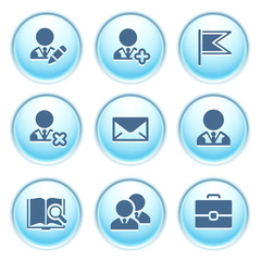 Icons on blue buttons 1