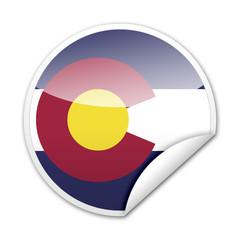 Pegatina bandera Colorado con reborde