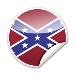Pegatina bandera Confederacion con reborde