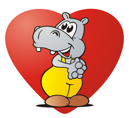 Hippo in Love