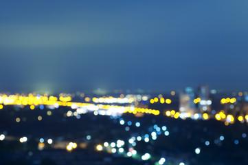 The Hague, Belgium - neon lights at night (defocussed)