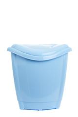 empty recycling bin on white