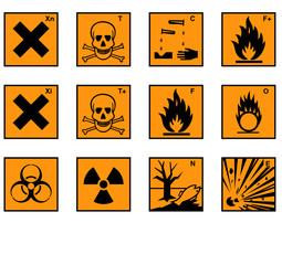 Sortiment von Gefahrenzeichen