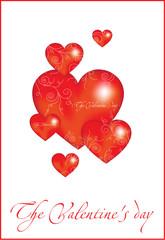 decorative red hearts