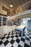 Nuova cucina in vecchio stile. Arredo stile liberty antico\