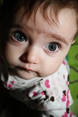 wide open surprise eye baby