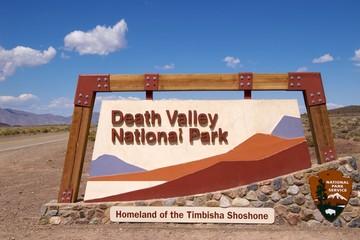 Entrance sign Death Valley National Park
