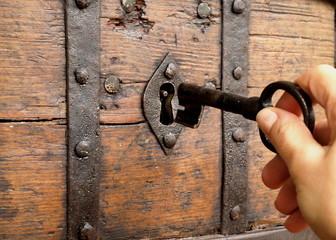 Fototapeta dłoń z kluczem