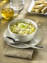 soupe d'orge perlée et pomme - minestra d'orzo e mela