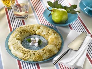 pudding de poires et avoine - budino di pere e avena