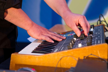 synthesizer with sound effects