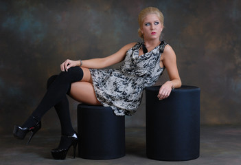 Sexy young female in high heels