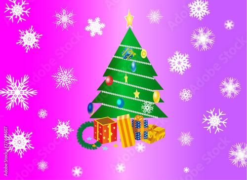 Arbol de navidad con regalos stock image and royalty - Arbol de navidad con regalos ...