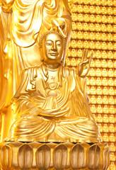 Golden Buddhist monk in dragon temple,Thailand