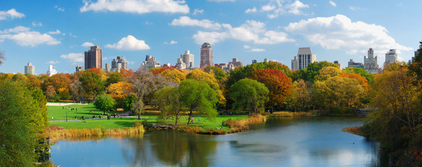 Fotobehang Chicago New York City Manhattan Central Park panorama