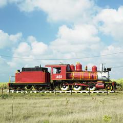 memorial of steam locomotive, Cuba
