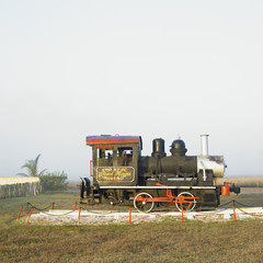 memorial of steam locomotive, René Fraga sugar factory, Cuba