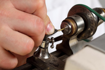 detail from watchmakers workshop