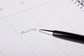 buchkalender mit eintrag