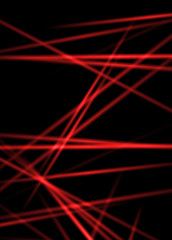 Abstract laser rays