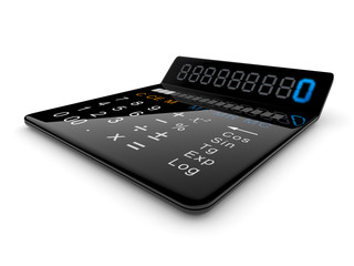 Black calculator 3D